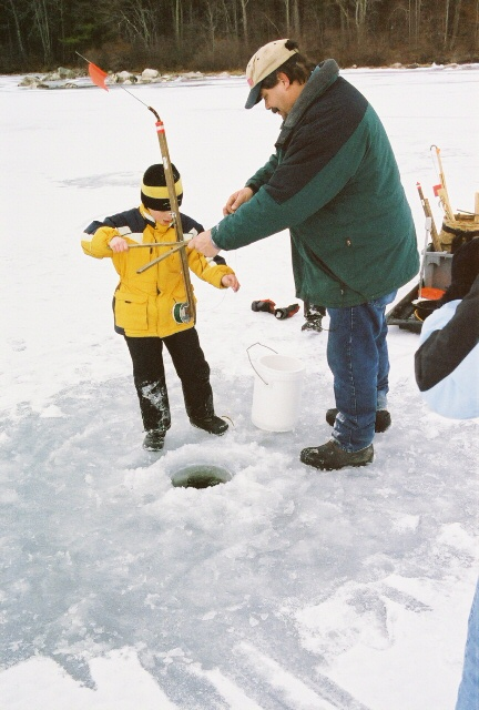 Gold sponsor for Maine ice fishing derbies