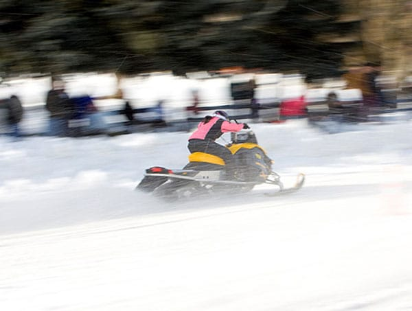Sebago Lake Snowmobile Speed Run