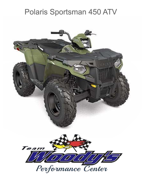 Image result for 2017 polaris sportsman 450 atv provided by team woodys performance center